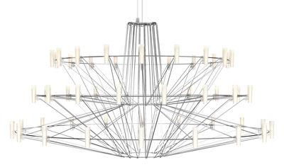 Leuchten - Pendelleuchten - Coppélia Large Pendelleuchte / LED - Ø 101 cm x H 54 cm - Moooi - Stahl glänzend - Polykarbonat, rostfreier Stahl