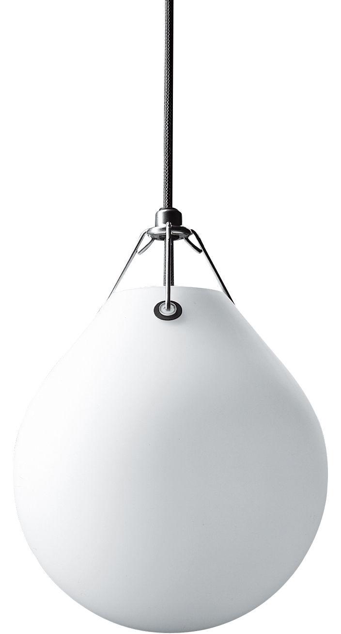 Leuchten - Pendelleuchten - Moser Pendelleuchte Ø 20,5 cm - Louis Poulsen - Weiß - geblasenes Glas, poliertes Aluminium