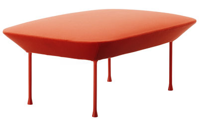 Furniture - Poufs & Floor Cushions - Oslo Pouf by Muuto - Mandarin - Aluminium, Foam, Kvadrat fabric, Steel