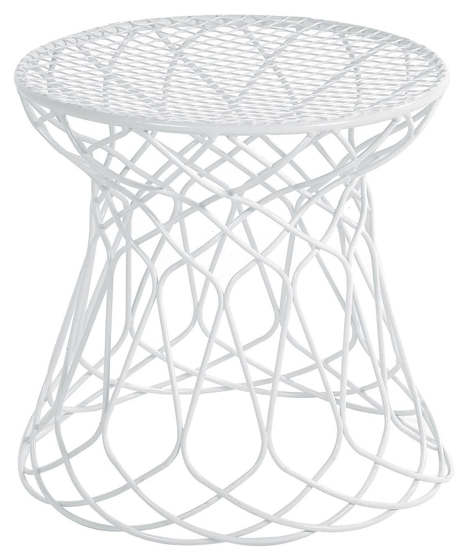 Furniture - Poufs & Floor Cushions - Re-trouvé Pouf by Emu - White - Steel