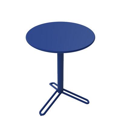 Outdoor - Garden Tables - Huggy Bistro Round table - / Ø 75 cm - Aluminium by Maiori - Dawn - Aluminium
