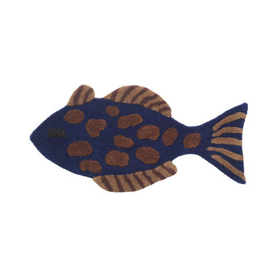 Decoration - Children's Home Accessories - Fish Rug - / Wall decoration - 78 x 38 cm by Ferm Living - Fish - Cotton, New-zealand wool