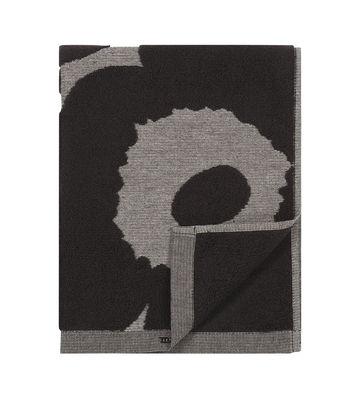 Accessoires - Accessoires salle de bains - Serviette de toilette Unikko / 50 x 100 cm - Marimekko - Unikko / Noir & gris - Coton
