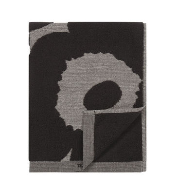 Serviette de toilette Unikko / 50 x 100 cm - Marimekko gris,noir en tissu