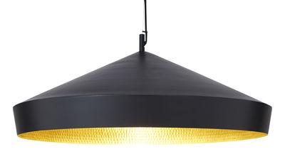 Illuminazione - Lampadari - Sospensione Beat Flat - / Ø 60  x H 20 cm di Tom Dixon - Nero / Interno dorato - Ottone