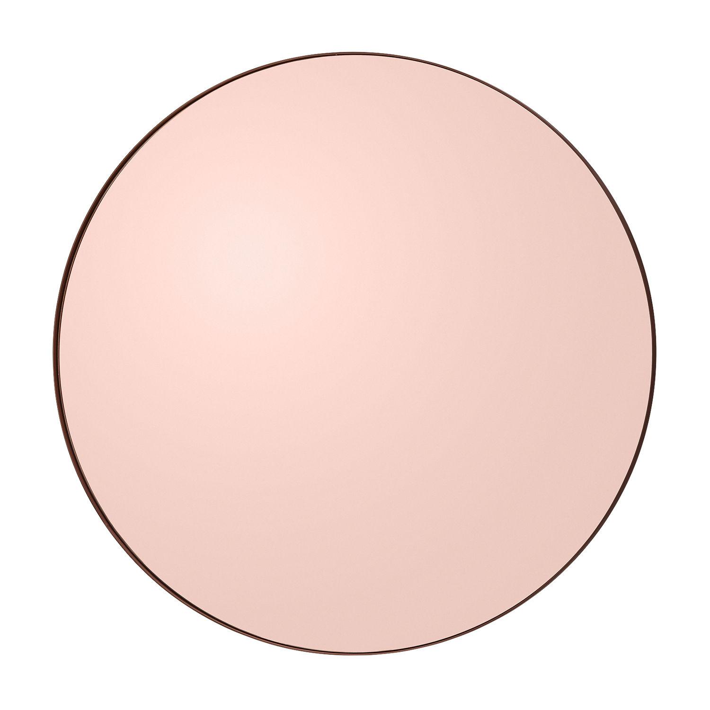 Interni - Specchi - Specchio murale Circum Medium - / Ø 90 cm di AYTM - Rosa fumé - MDF tinto, Vetro