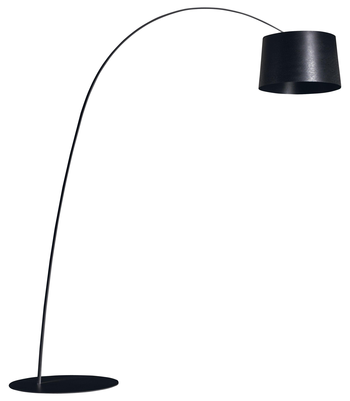 Leuchten - Stehleuchten - Twiggy Stehleuchte - Foscarini - Schwarz - Glasfaser, Verbund-Werkstoffe
