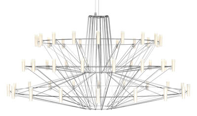 Luminaire - Suspensions - Suspension Coppélia / LED - Ø 101 x H 54 cm - Moooi - Acier brillant - Acier inoxydable, Polycarbonate