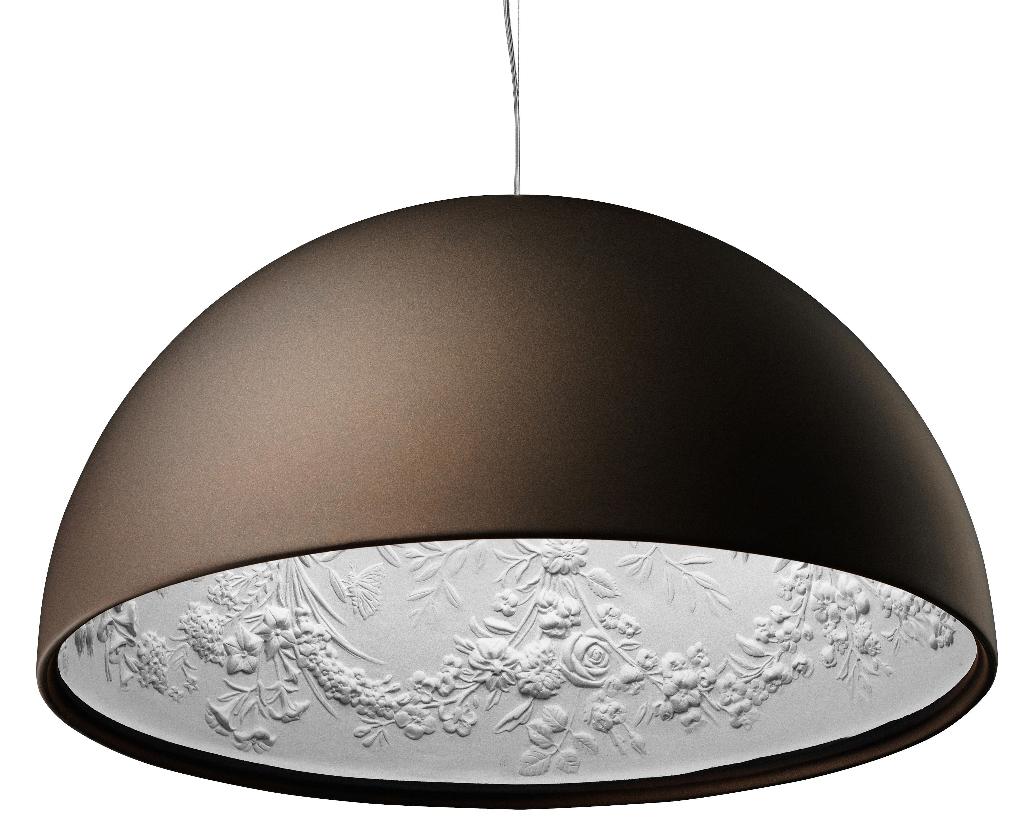 Luminaire - Suspensions - Suspension Skygarden 1 Ø 60 cm / Halogène - Flos - Bronze mat - Aluminium, Plâtre