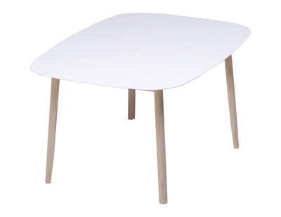Furniture - Dining Tables - Branca Table - 110 x 150 cm by Mattiazzi - 110 x 150 cm - White lacquered - Ashwood, Lacquered MDF