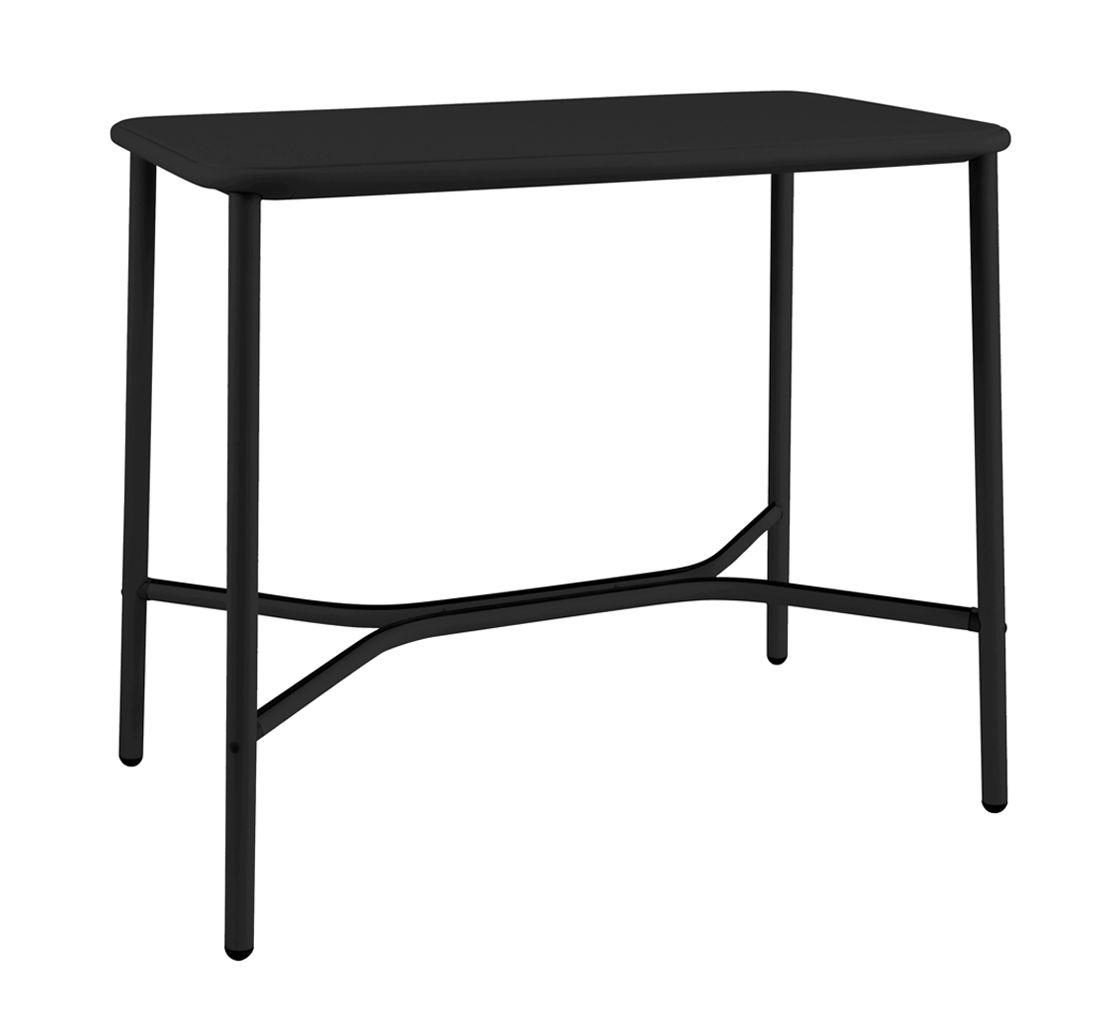 Mobilier - Mange-debout et bars - Table haute Yard / Métal - 120 x 70 cm x H 105 cm - Emu - Noir - Aluminium verni