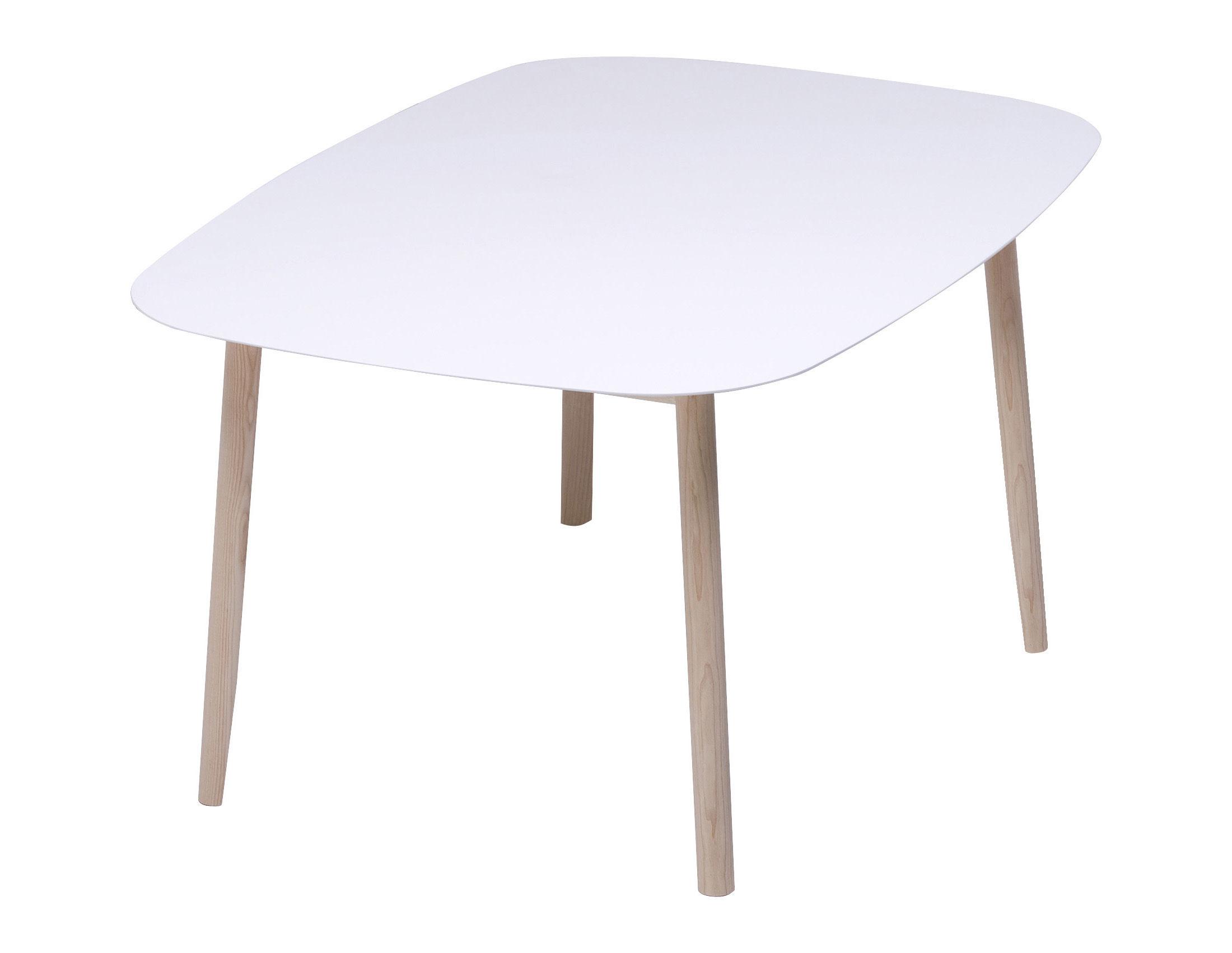 Mobilier - Tables - Table rectangulaire Branca / 110 x 150 cm - Mattiazzi - Plateau blanc / Pieds frêne - 110 x 150 cm - - Frêne, MDF laqué