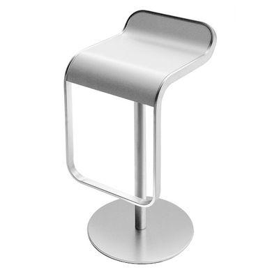 Mobilier - Tabourets de bar - Tabouret haut réglable Lem / Assise Corian pivotante - Lapalma - Blanc - Corian, Métal