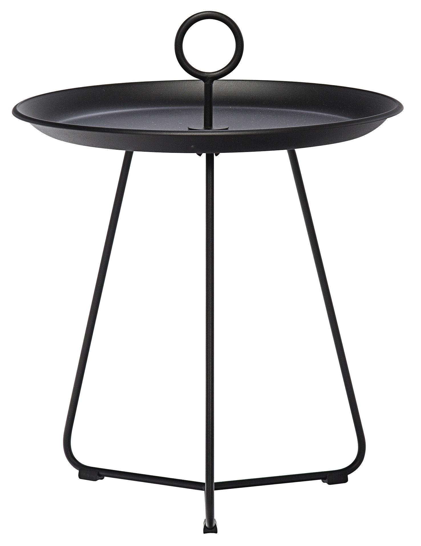 Arredamento - Tavolini  - Tavolino basso Eyelet Small / Ø 45 x H 46,5 cm - Houe - Nero - Metallo rivestito in resina epossidica