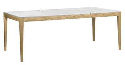 Board Tisch / Marmor - L 201 cm - POP UP HOME - Eiche natur,Marmor Weiß