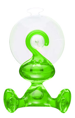 Kitchenware - Fun in the kitchen - Moritz Wall hook - With sucker by Koziol - Transparent green - Plastic material