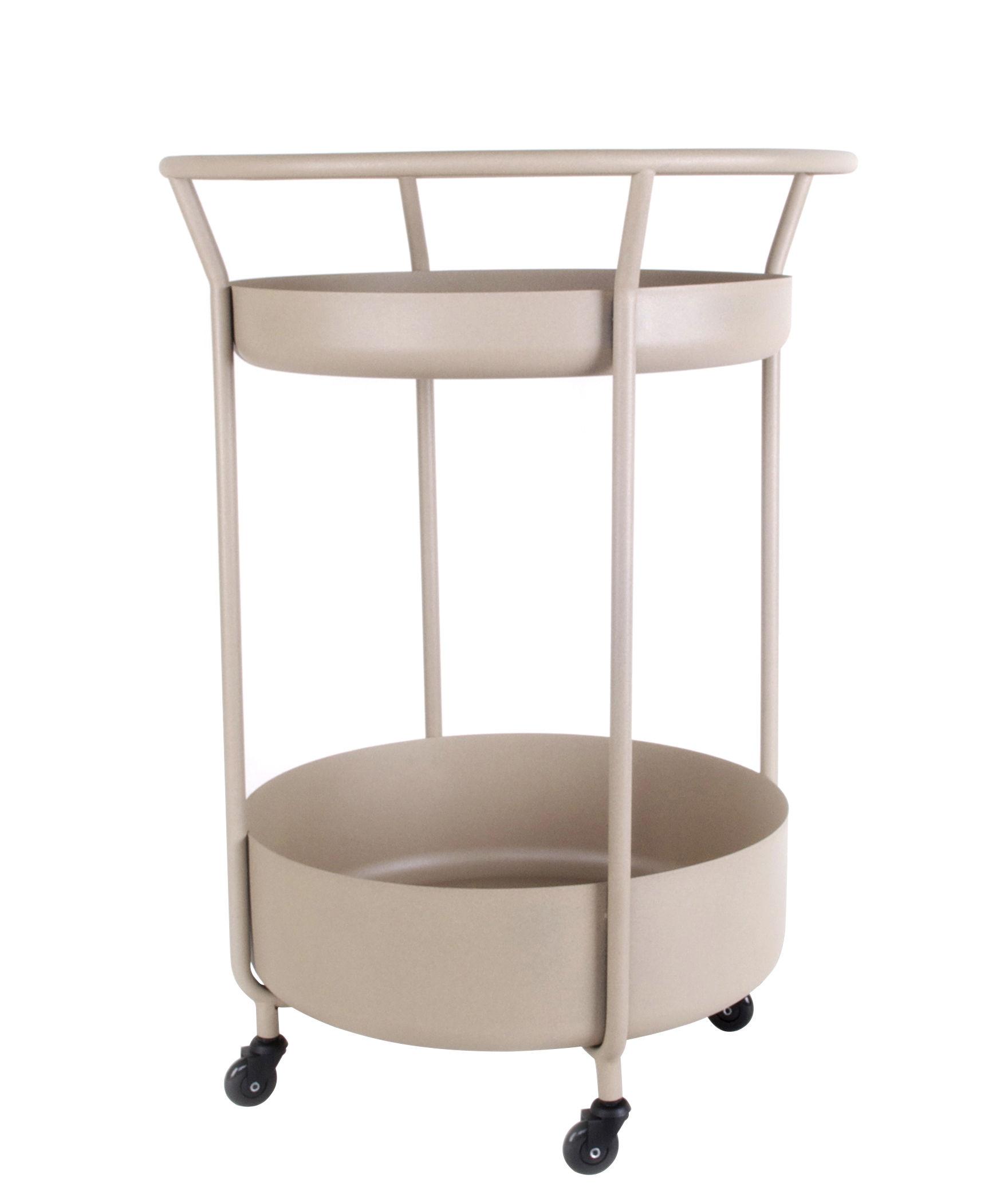 Möbel - Beistell-Möbel - Corona Ablage / Stahl - XL Boom - Quarzgrau - Acier laqué époxy