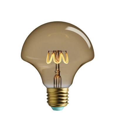 Ampoule LED filaments E27 Willow / 4,5W (28W) - 290 lumen - Plumen doré en verre