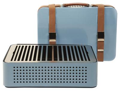 Barbecue portable à charbon Mon Oncle / 44 x 32 cm - RS BARCELONA bleu en métal