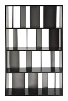Bibliothèque Sundial L 100 x H 165 cm - Kartell noir,gris fumé en matière plastique