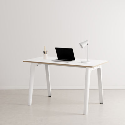 Bureau New Modern / 130 x 70 cm - Stratifié - TIPTOE blanc en métal/bois