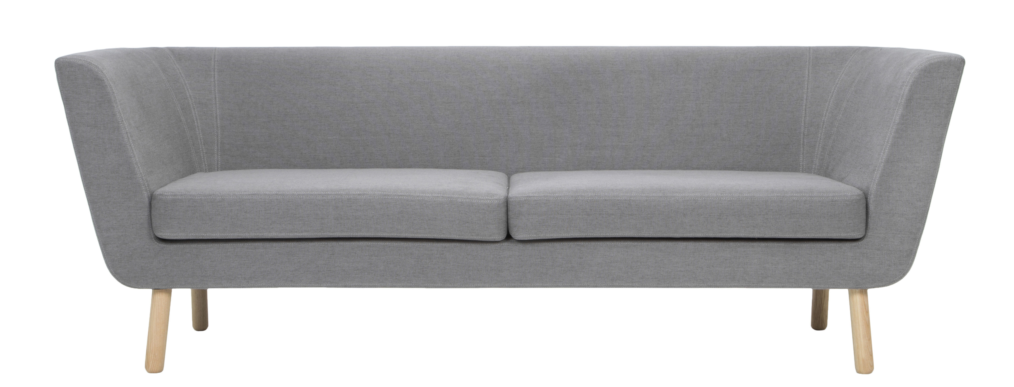 Mobilier - Canapés - Canapé droit Nest / L 204 cm - Design House Stockholm - Gris - Chêne, Mousse, Tissu