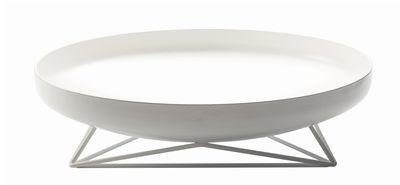Arts de la table - Corbeilles, centres de table - Centre de table Steel Vessels Medium / Vide-poche - Ø 42 cm - Th Manufacture - Blanc - Acier, Fer forgé