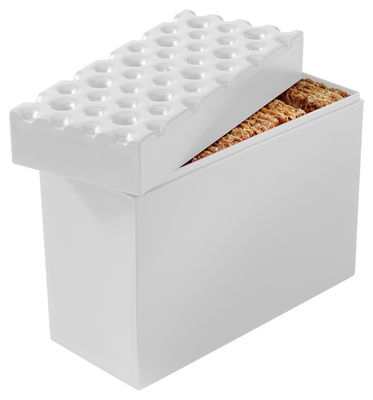 Tavola - Scatole e Barattoli - Contenitore ermetico Brod - per biscotti di Koziol - Bianco - Plastica