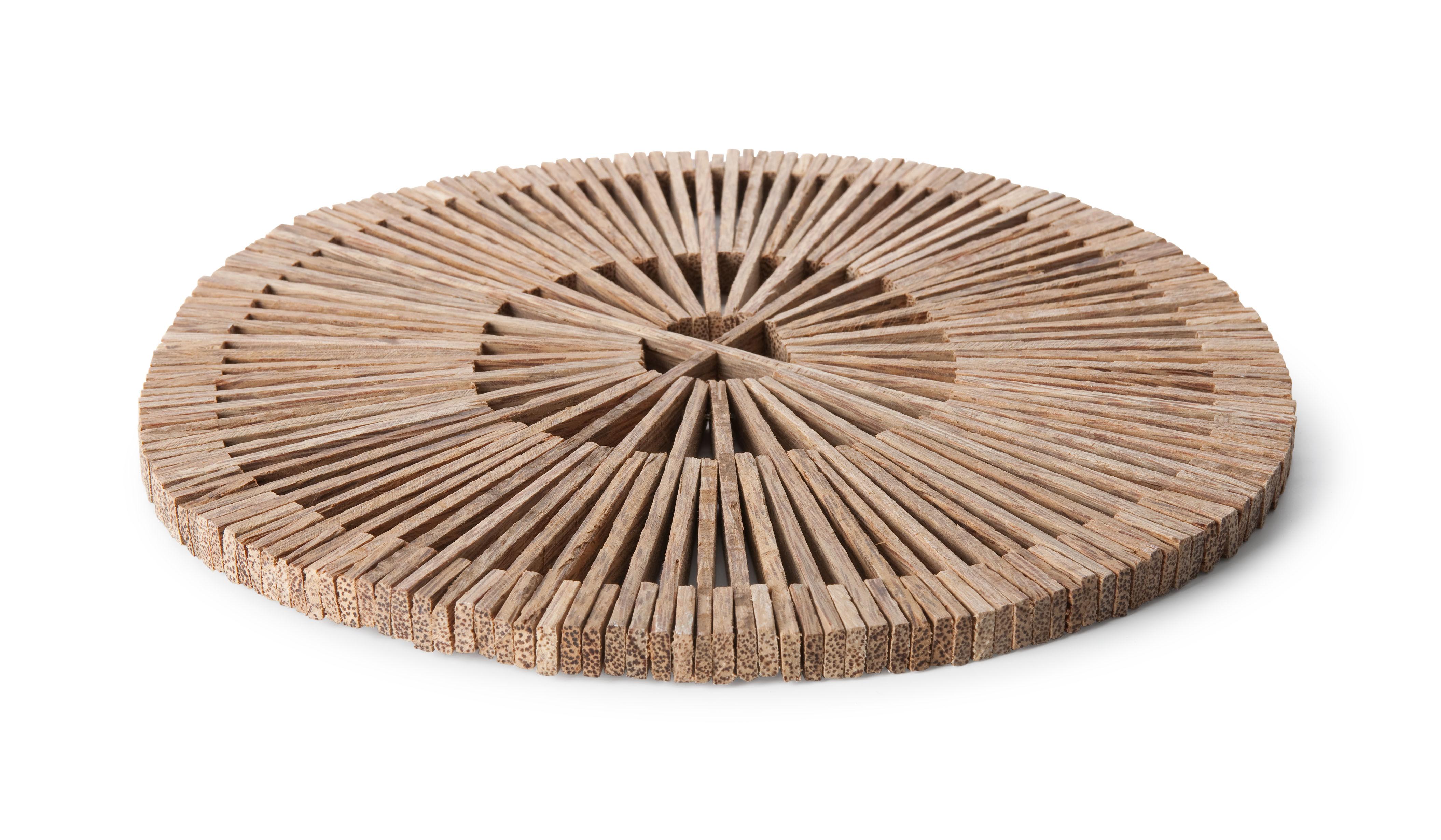 Arts de la table - Dessous de plat - Dessous de plat Basket Ø 28 cm - Fair Trade original - Pop Corn - Naturel - Dessous de plat - Bois de palmier