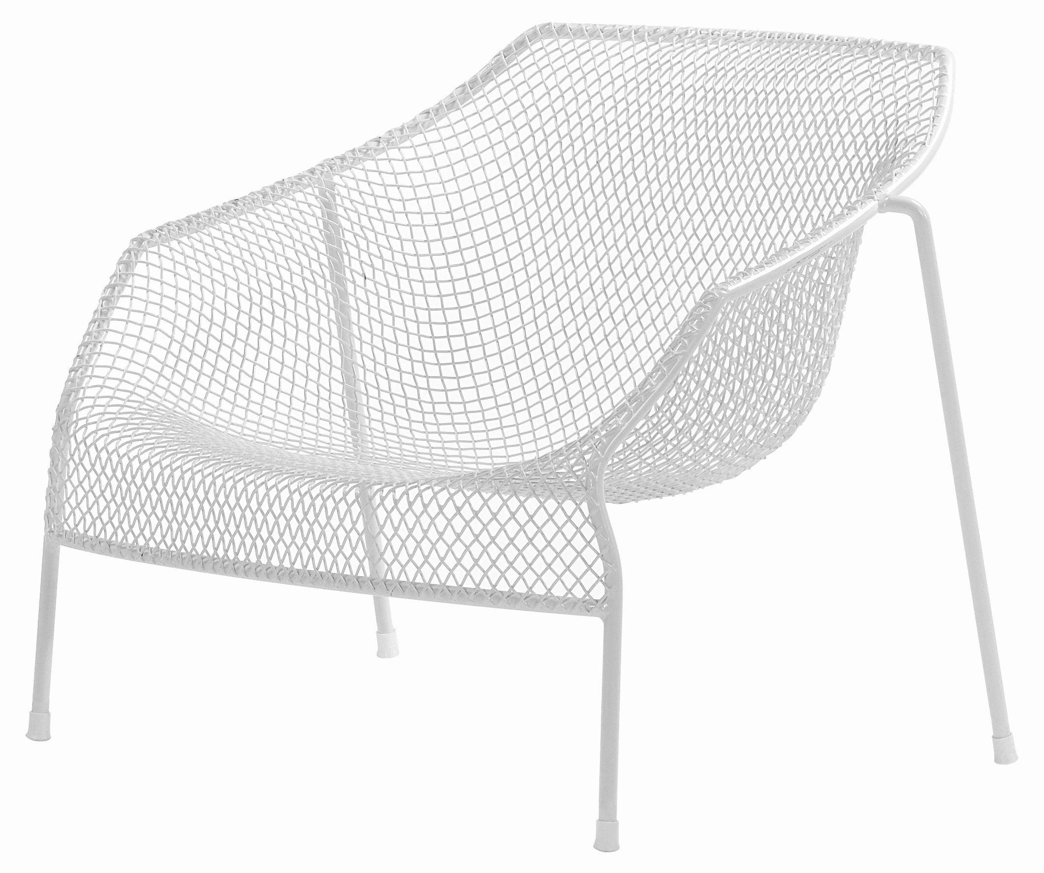 Mobilier - Fauteuils - Fauteuil bas Heaven / Métal - Emu - Blanc mat - Acier