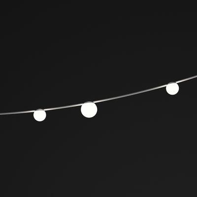 Illuminazione - Lampadari - Ghirlanda June LED - / Globi - L 130 cm di Vibia - Globi / Marrone & bianco - Acciaio verniciato, policarbonato
