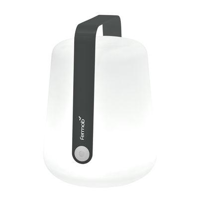 Illuminazione - Lampade da tavolo - Lampada senza fili Balad Large LED - / H 38 cm - Ricarica USB di Fermob - Carbonio - Alluminio, Polietilene