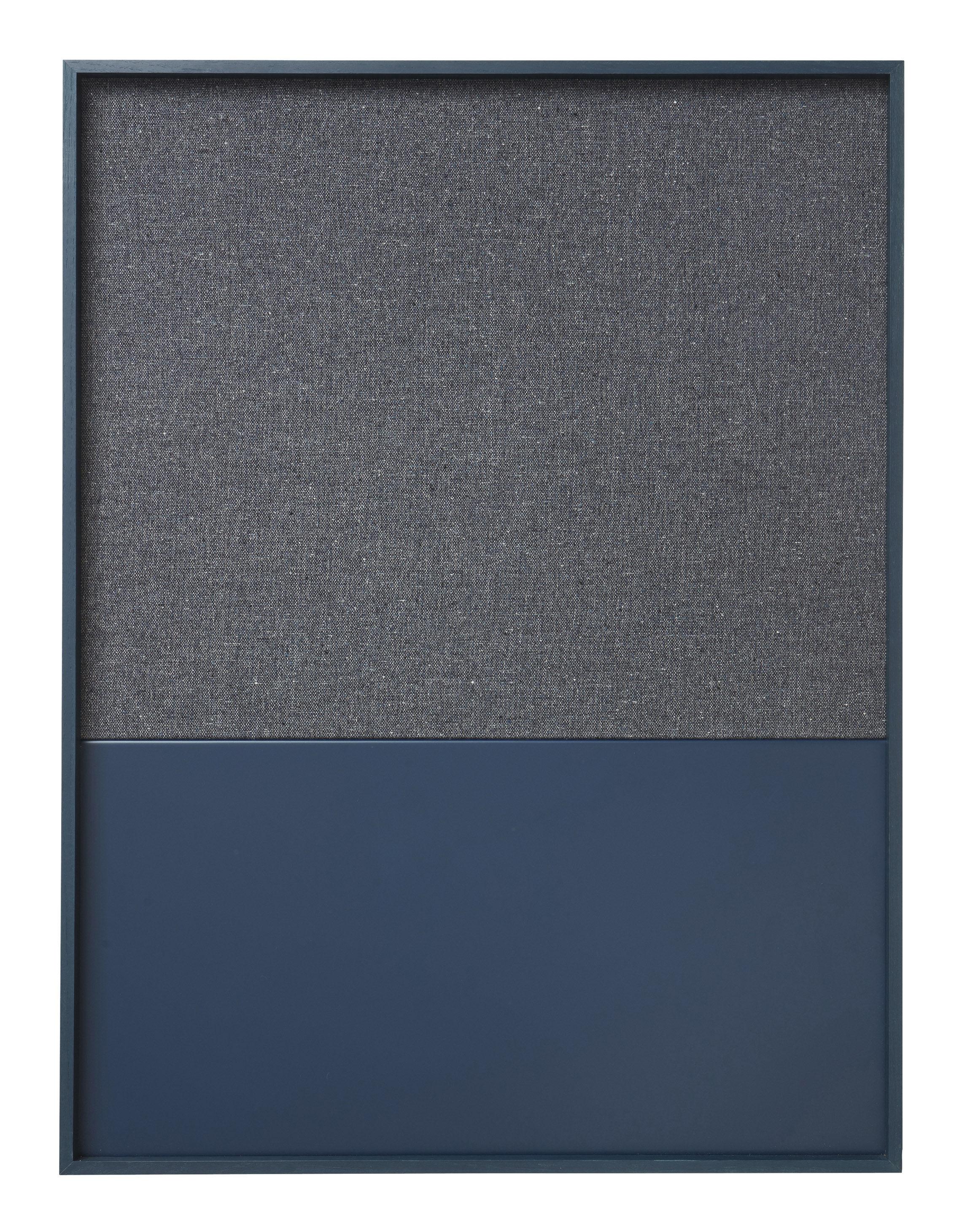 Accessories - Desk & Office Accessories - Frame Pinboard Memo board - 62 x 82 cm by Ferm Living - Dark blue - Cork, Cotton, Lacquered metal, Oak