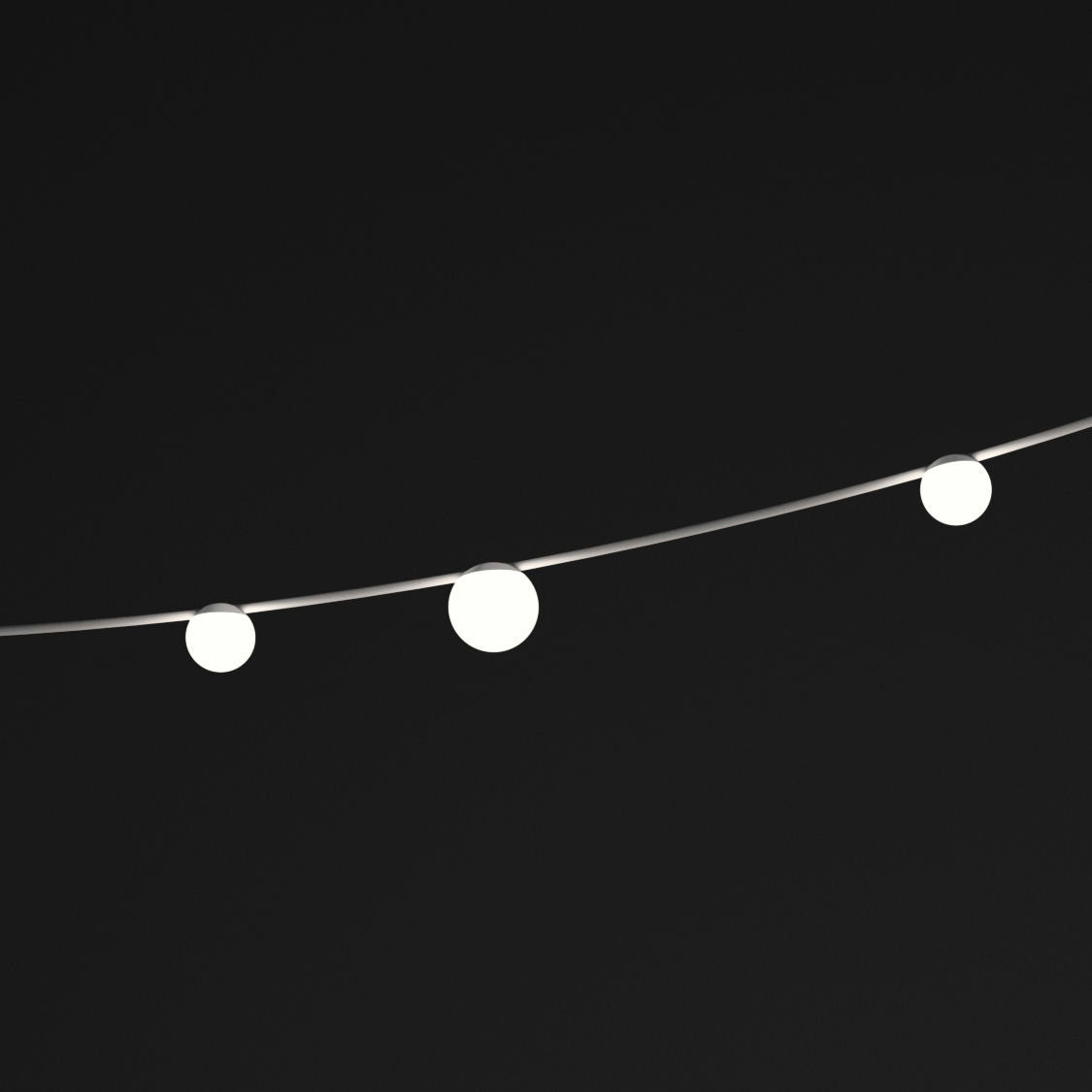 Lighting - Pendant Lighting - June LED Outdoor luminous garland - / Globes - L 130 cm by Vibia - Globes / Brown & white - Painted steel, Polycarbonate