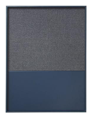 Panneau mémo Frame Pinboard / 62 x 82 cm - Ferm Living bleu foncé en métal