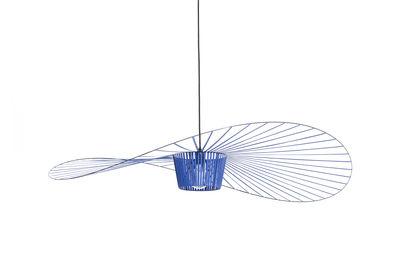 Lighting - Pendant Lighting - Vertigo Small Pendant - / Ø 140 cm by Petite Friture - Cobalt blue - Fibreglass, Polyurethane
