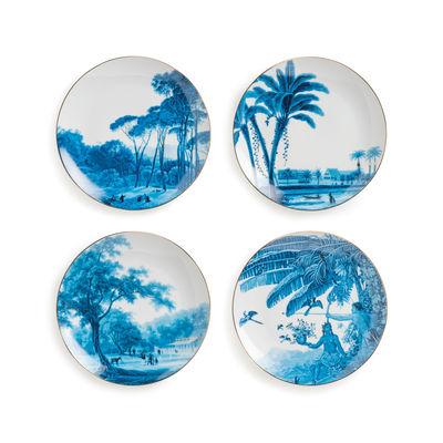 Tavola - Piatti  - Piatto da dessert Landscape - /  Ø 22.5 cm - Set di 4 / Porcellana di & klevering - Blu & bianco - Porcellana