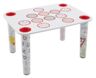 Plateau de table Little Flare modèles Circle - Magis Collection Me Too blanc,rouge en matière plastique