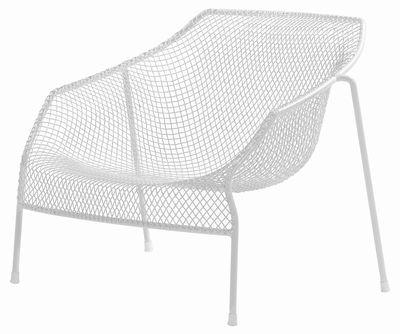 Arredamento - Poltrone design  - Poltrona bassa Heaven di Emu - Bianco - Acciaio