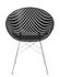 Poltrona Smatrik - / Seduta plastica & gambe metallo di Kartell