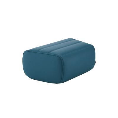 Mobilier - Poufs - Pouf Saparella (1965) / Similicuir - 78 x 52 cm - Cinna - Bleu Canard (Similicuir) - Mousse polyuréthane, Similicuir