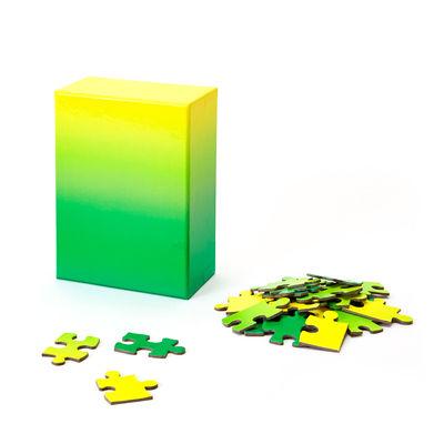 Déco - Pour les enfants - Puzzle Gradient / 100 pièces - Dégradé de couleur - Areaware - Vert / Jaune - Carton