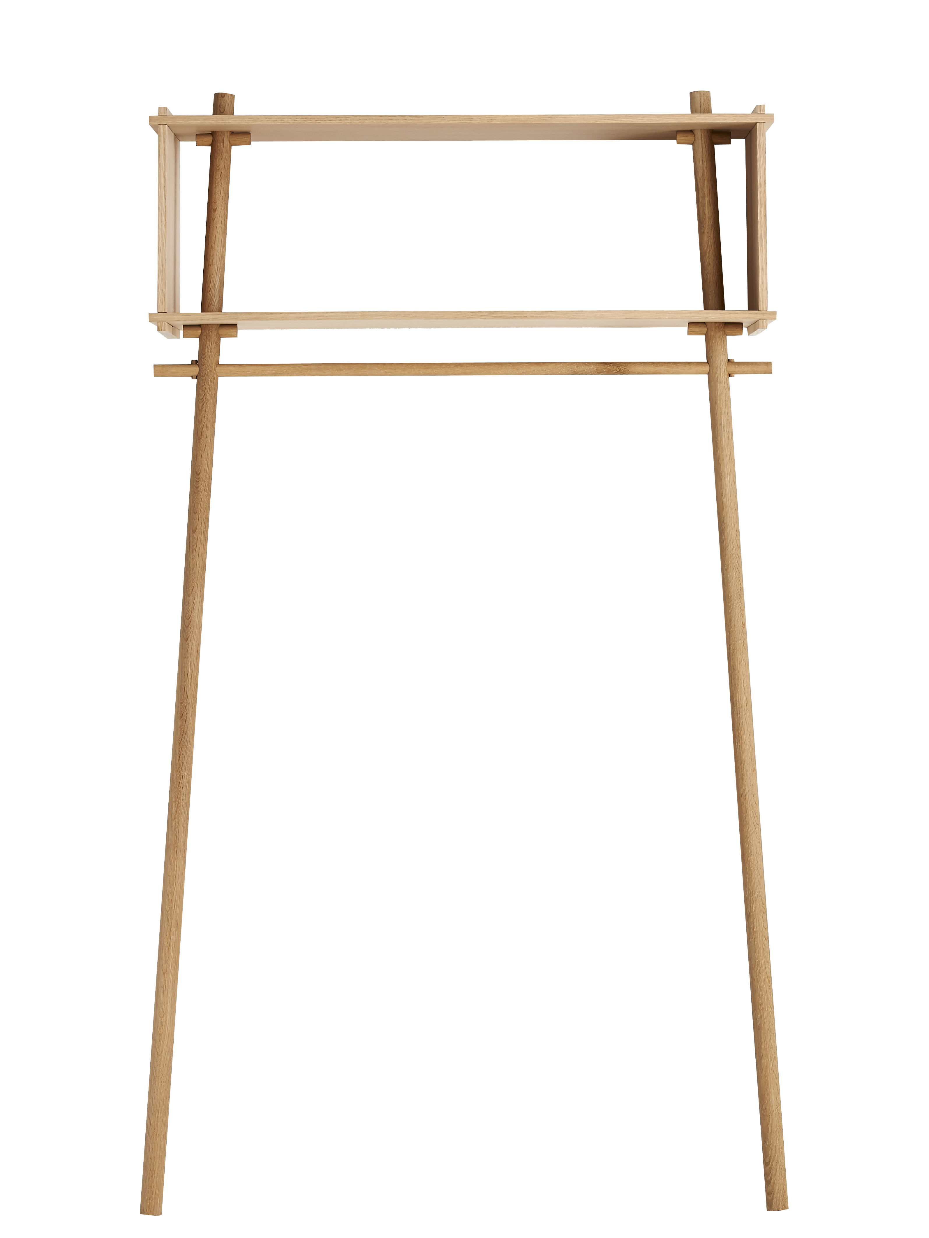Furniture - Bookcases & Bookshelves - Töjbox Large Rack - Shelf - W 112 x H 200 cm by Woud - Soaped oak - Oak plywood, Solid oak