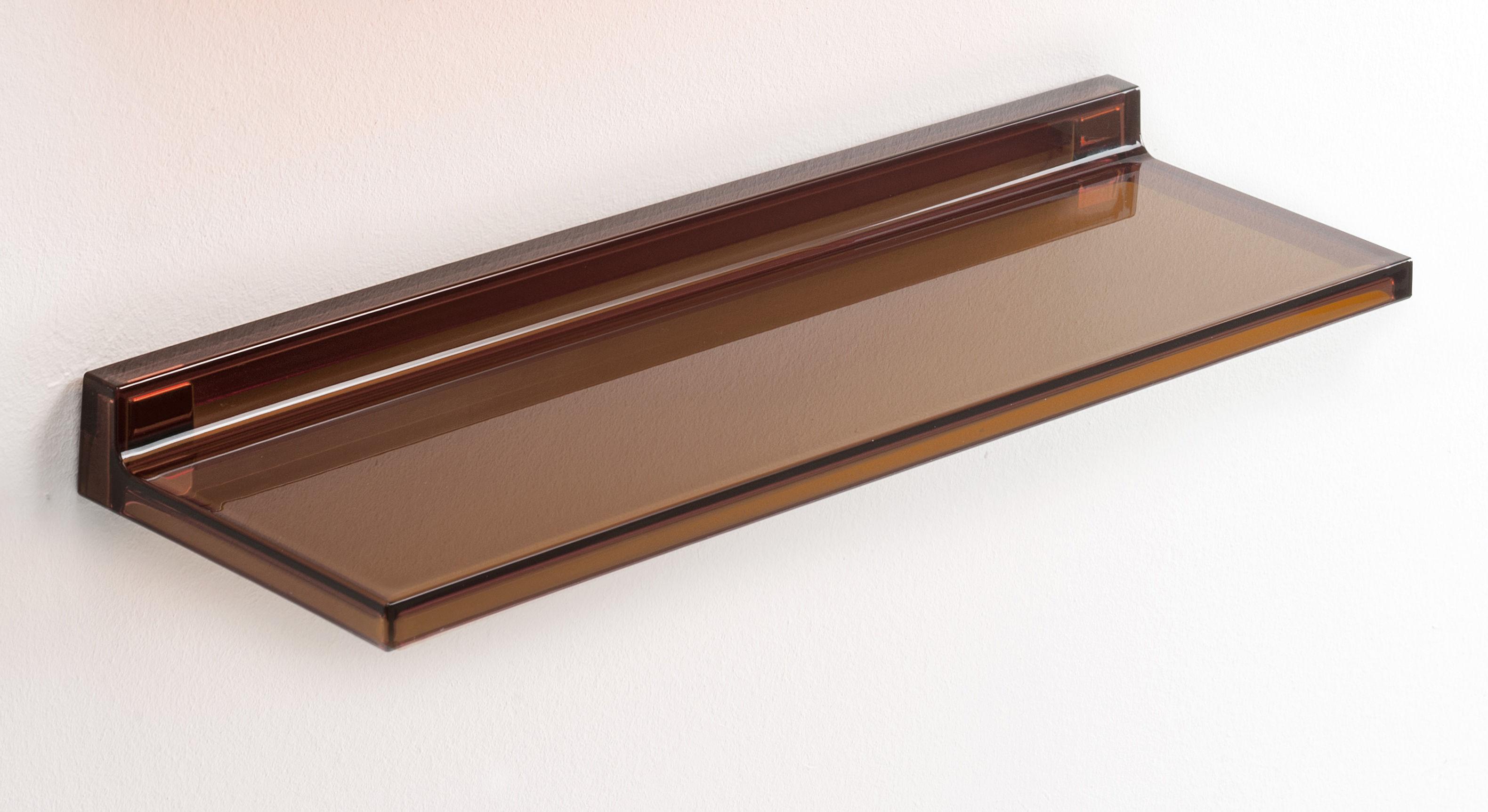 Möbel - Regale und Bücherregale - Shelfish Regal / L 45 cm - Kartell - Bernsteinfarben - PMMA