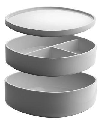 Accessoires - Accessoires für das Bad - Birillo Schachtel / 2 Fächer - Alessi - Weiß - PMMA