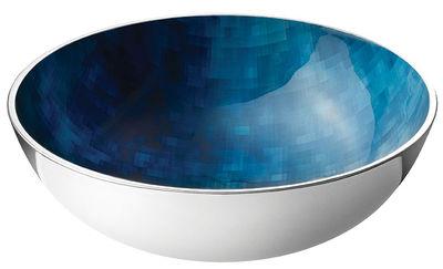 Tischkultur - Salatschüsseln und Schalen - Stockholm Horizon Schale / Ø 20 cm x H 7 cm - Stelton - Metall / blau - Aluminium, Kalt-Email