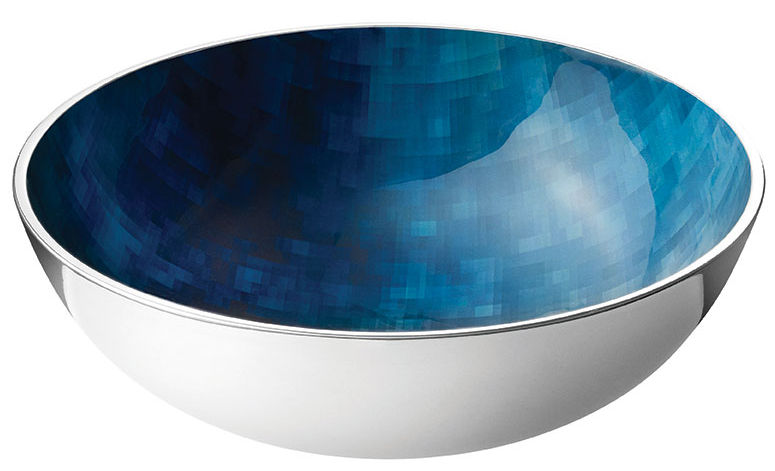 Tischkultur - Salatschüsseln und Schalen - Stockholm Horizon Schale / Ø 20 cm x H 7 cm - Stelton - Metall / blau - Aluminium, Kaltemail