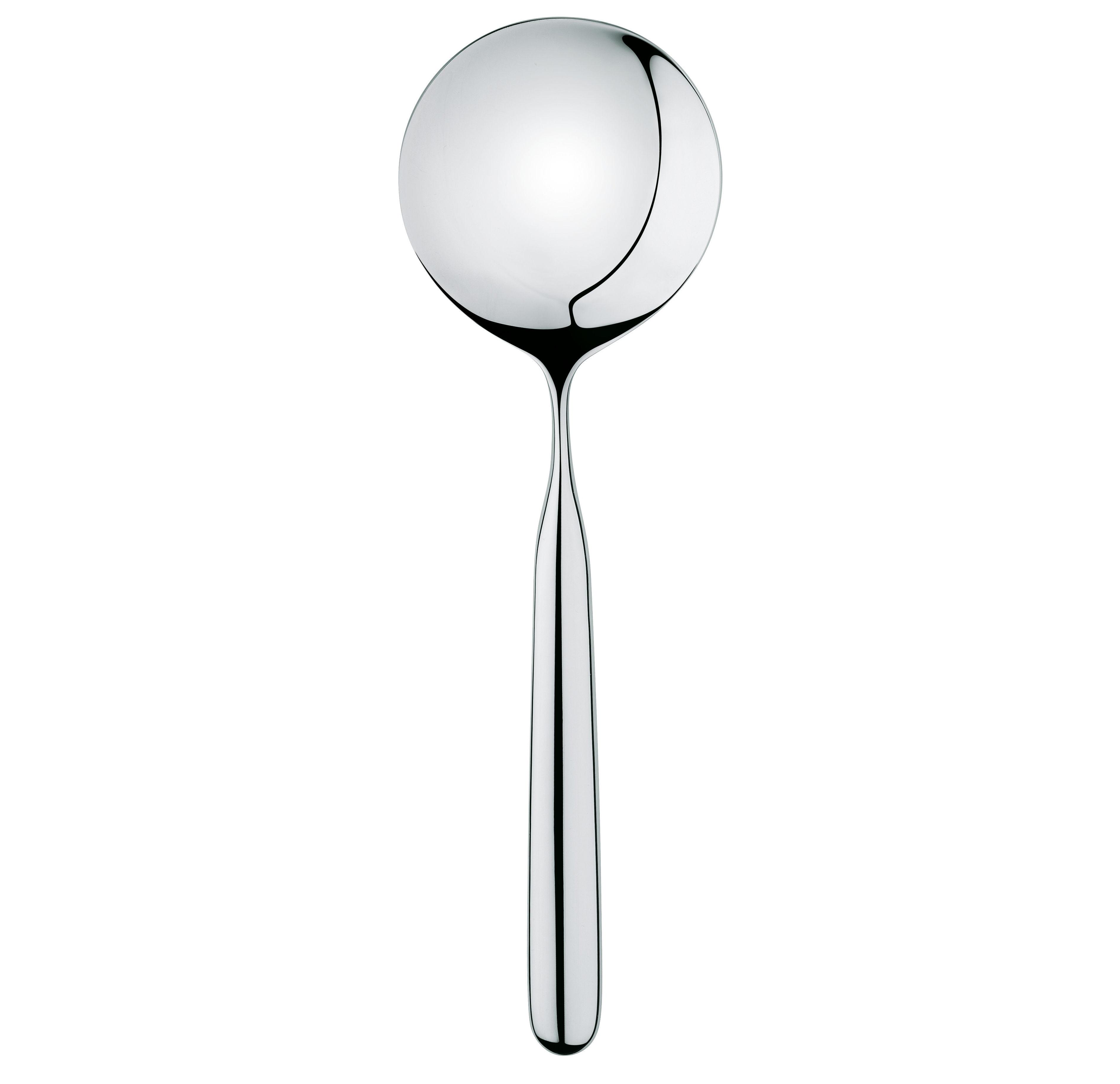 Küche - Küchenutensilien - Servierlöffel für Risotto - Alessi - Edelstahl glänzend - rostfreier Stahl