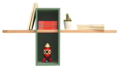 Furniture - Bookcases & Bookshelves - Max Shelf by Compagnie - Light green - Beechwood, Painted MDF