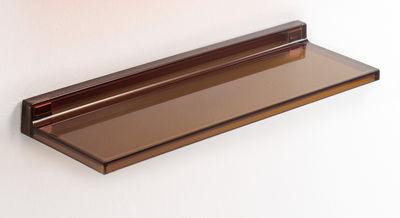 Furniture - Bookcases & Bookshelves - Shelfish Shelf by Kartell - Amber - PMMA